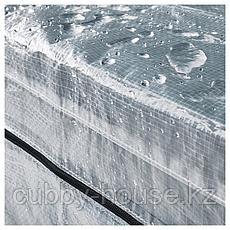 ХИЛЛИС Стеллаж с чехлами, прозрачный, 180x27x74-140 см, фото 2