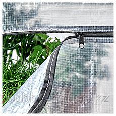 ХИЛЛИС Стеллаж с чехлами, прозрачный, 180x27x74-140 см, фото 3