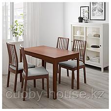 ЭКЕДАЛЕН Раздвижной стол, коричневый, 80/120x70 см, фото 2