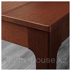 ЭКЕДАЛЕН Раздвижной стол, коричневый, 80/120x70 см, фото 3
