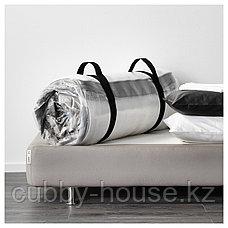 ХАМАРВИК Пружинный матрас, жесткий, темно-бежевый, 140x200 см, фото 3