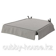 ЭЛЬСЭБЭТ Подушка на стул, серый, 43x42x4.0 см, фото 2