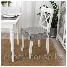 ЭЛЬСЭБЭТ Подушка на стул, серый, 43x42x4.0 см, фото 3