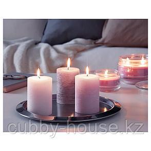 ЛУГГА Формовая свеча, ароматическая, Цветение розовый, 10 см, фото 2