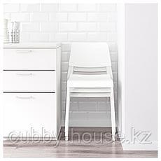 ИКЕА ПС 2012 / ТЕОДОРЕС Стол и 2 стула, бамбук белый, белый, фото 3