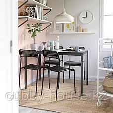 ТЭРЕНДО / АДДЕ Стол и 4 стула, черный, 110 см, фото 2