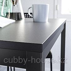 ТЭРЕНДО / АДДЕ Стол и 4 стула, черный, 110 см, фото 3