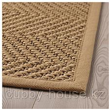 ХЕЛЛЕСТЕД Ковер безворсовый, неокрашенный, коричневый, 80x150 см, фото 3