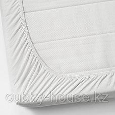 ВОРВИАЛ Натяжная простыня для кушетки, белый, 80x200 см, фото 3