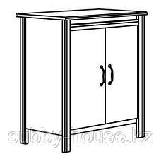БРУСАЛИ Шкаф с дверями, белый, 80x93 см, фото 3