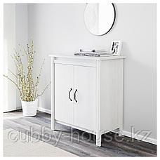 БРУСАЛИ Шкаф с дверями, белый, 80x93 см, фото 2