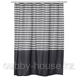 ВАДШЁН Штора для ванной, темно-серый, 180x200 см, фото 2