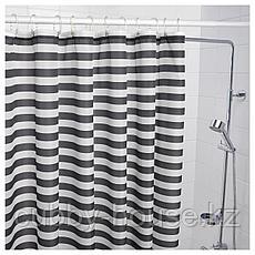 ВАДШЁН Штора для ванной, темно-серый, 180x200 см, фото 3