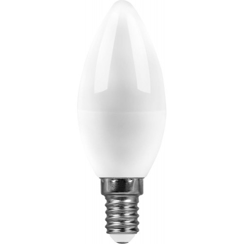 Лампа светодиодная  7W 2700K 230V E14 C37 свеча
