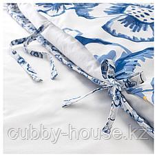 СОНГЛЭРКА Пододеяльник и 1 наволочка, бабочка, белый синий, 150x200/50x70 см, фото 2