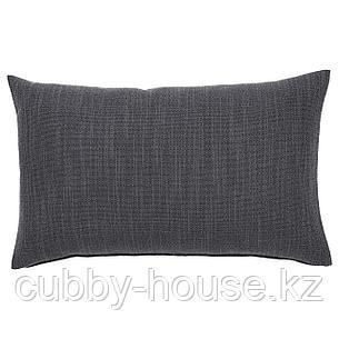 ХИЛЛАРЕД Чехол на подушку, антрацит, 40x65 см, фото 2