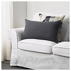 ХИЛЛАРЕД Чехол на подушку, антрацит, 40x65 см, фото 3