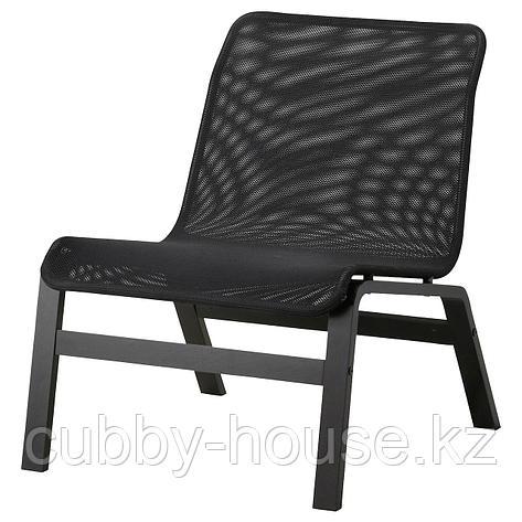 НОЛЬМИРА Кресло, березовый шпон, серый, фото 2