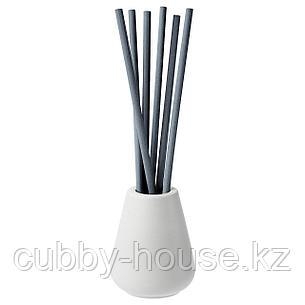 НЬЮТНИНГ Ваза и 6 ароматических палочек, Цветущий бергамот, серый, фото 2