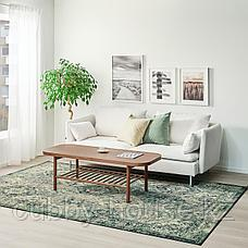 ВОНСБЭК Ковер, короткий ворс, зеленый, 200x300 см, фото 2