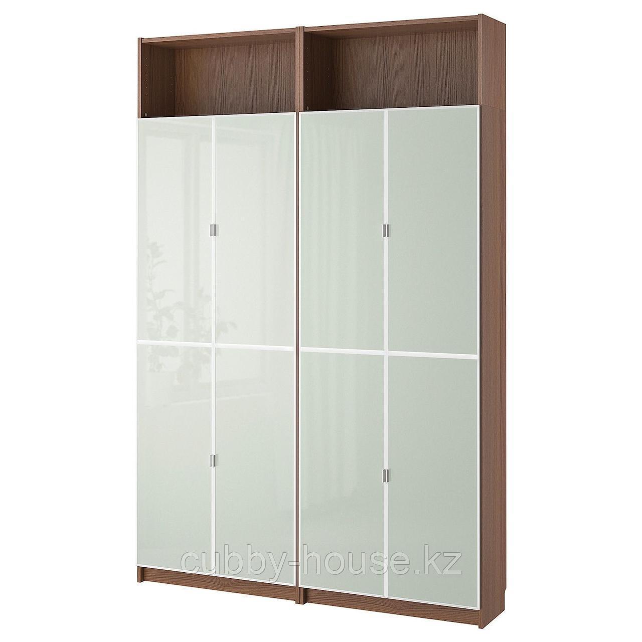 БИЛЛИ / МОРЛИДЕН Стеллаж, черно-коричневый, 160x30x237 см