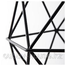 БРЮНСТА Абажур для подвесн светильника, черный, 20 см, фото 3