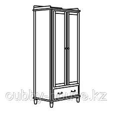 ТИССЕДАЛЬ Шкаф платяной, белый, зеркальное стекло, 88x58x208 см, фото 2