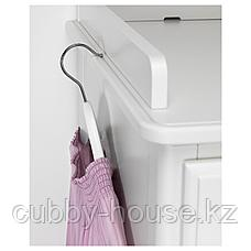 ТИССЕДАЛЬ Шкаф платяной, белый, зеркальное стекло, 88x58x208 см, фото 3