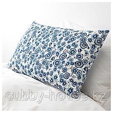 СОНГЛЭРКА Подушка, цветок, синий белый, 65x40 см, фото 3