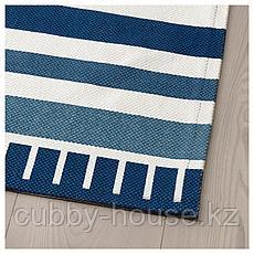 СОНГЛЭРКА Ковер безворсовый, темно-синий, 80x160 см, фото 2