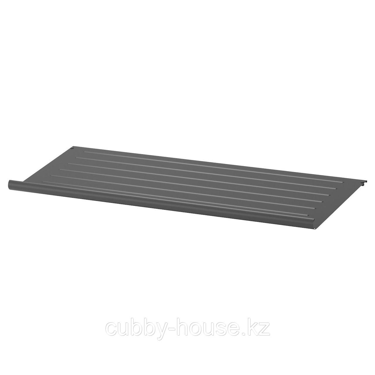КОМПЛИМЕНТ Полка для обуви, темно-серый, 100x35 см
