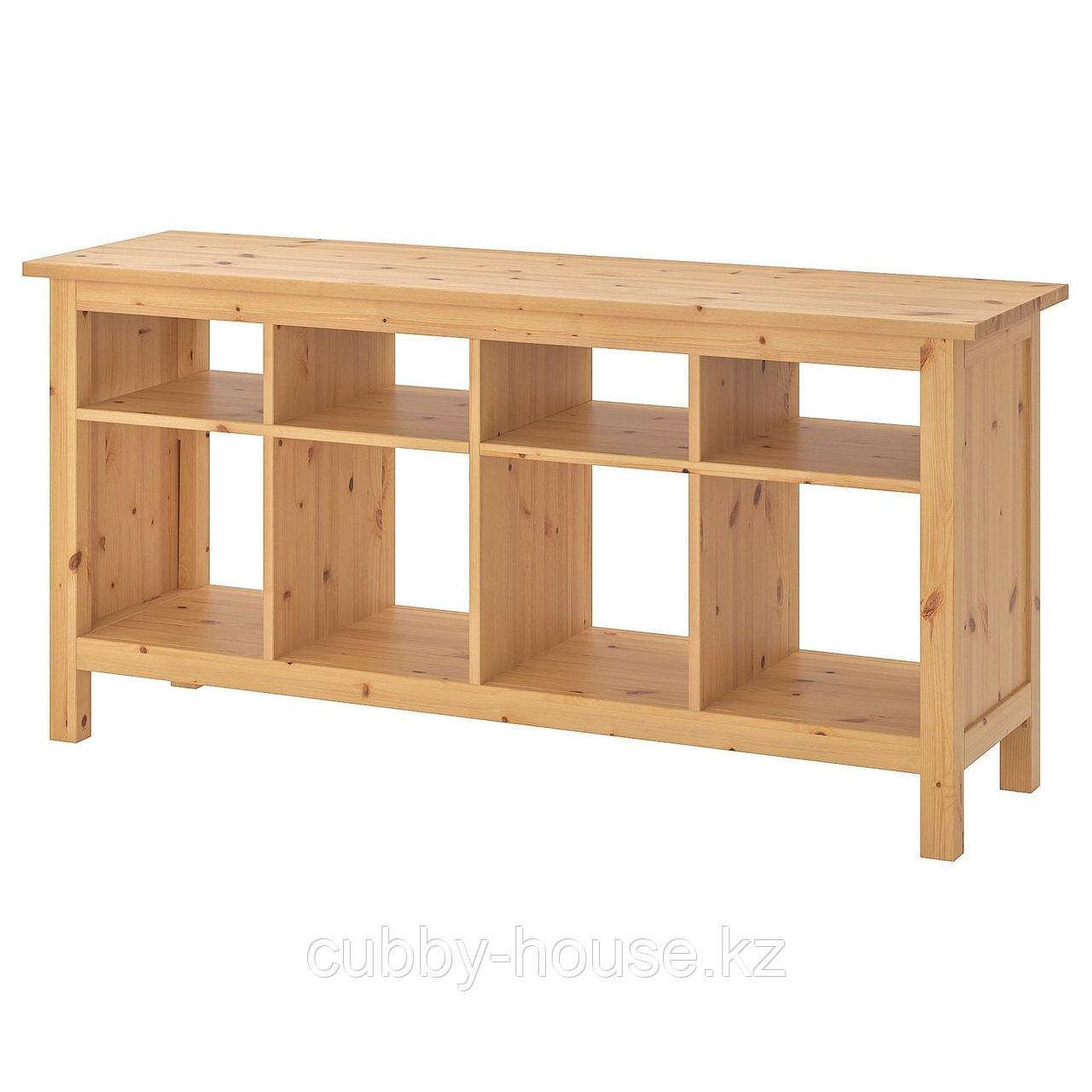 ХЕМНЭС Консольный стол, белая морилка, 157x40 см