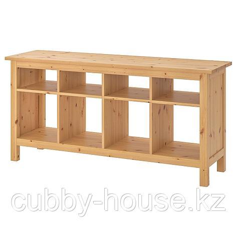 ХЕМНЭС Консольный стол, белая морилка, 157x40 см, фото 2