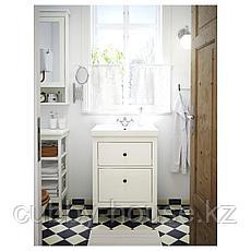 ХЕМНЭС / ОДЕНСВИК Шкаф для раковины с 2 ящ, белый, РУНШЕР смеситель, 63x49x89 см, фото 3
