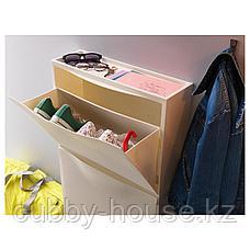ТРОНЭС Галошница/шкаф, белый, 52x39 см, фото 2