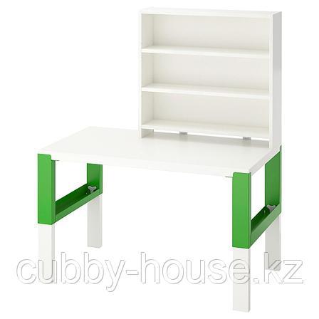 ПОЛЬ Письменн стол с полками, белый, 96x58 см, фото 2