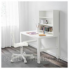 ПОЛЬ Письменн стол с полками, белый, 96x58 см, фото 3