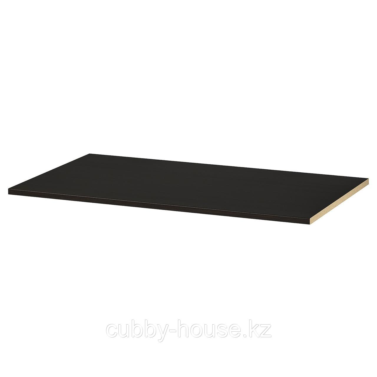 КОМПЛИМЕНТ Полка, черно-коричневый, 100x35 см