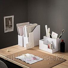 ТЬЕНА Подставка д/канцелярских принадлежн, белый, 18x17 см, фото 3
