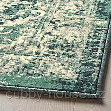 ВОНСБЭК Ковер, короткий ворс, зеленый, 133x195 см, фото 3