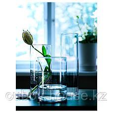 ЦИЛИНДР Набор ваз,3 штуки, прозрачное стекло, фото 2