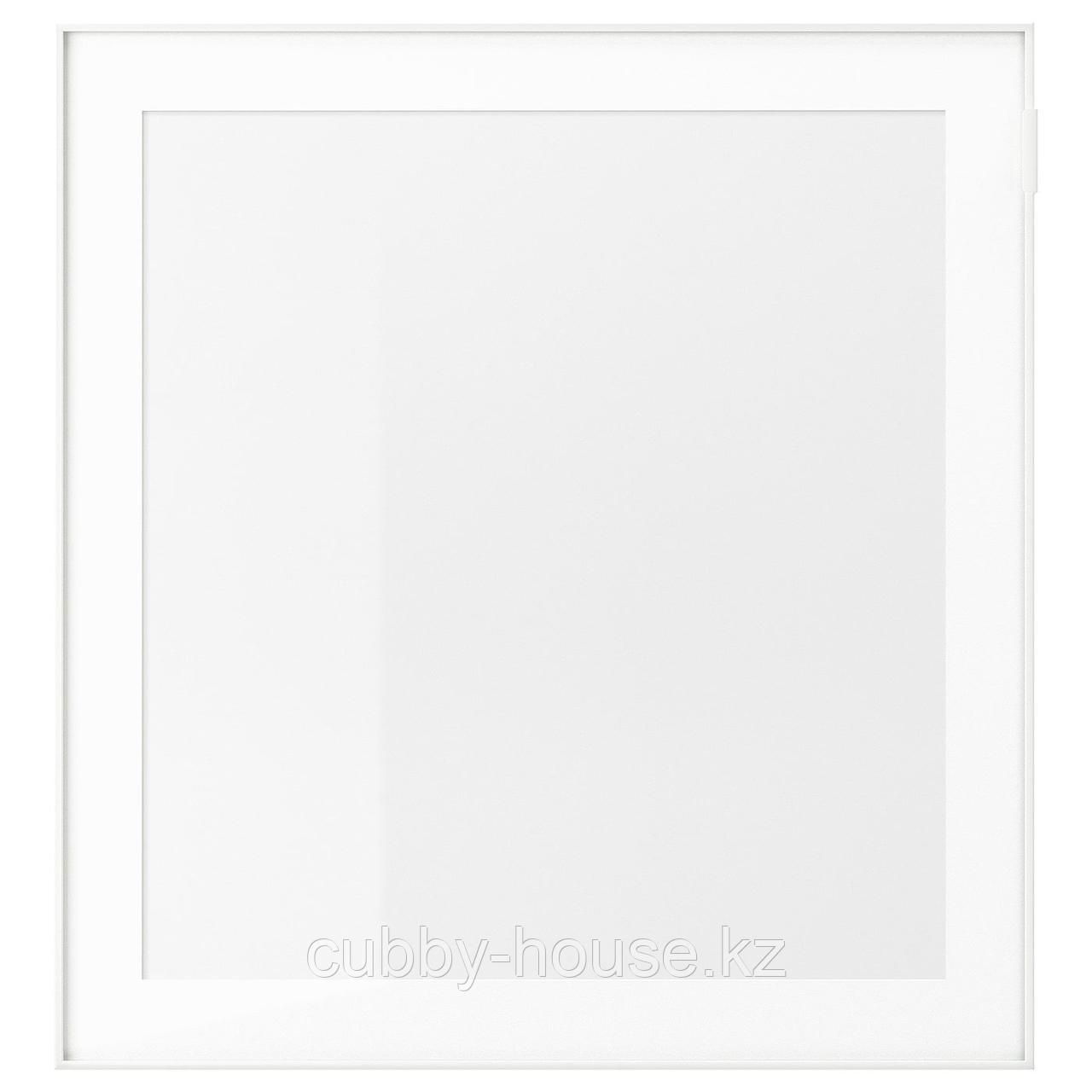 ГЛАССВИК Стеклянная дверь, белый, матовое стекло, 60x64 см
