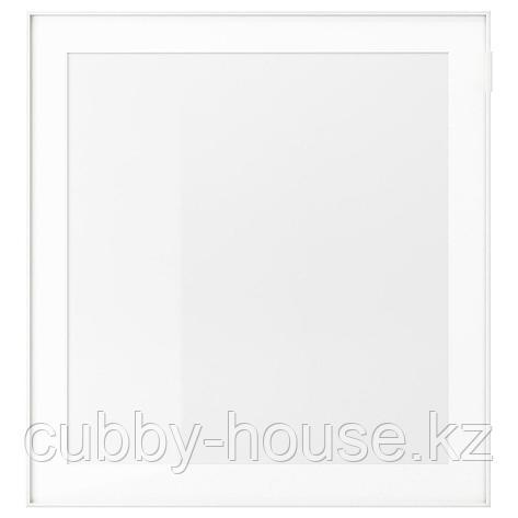 ГЛАССВИК Стеклянная дверь, белый, матовое стекло, 60x64 см, фото 2