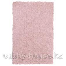 ЛИНДКНУД Ковер, длинный ворс, розовый, 60x90 см, фото 2