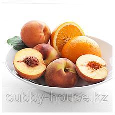 СИНЛИГ Ароматическая свеча в стакане, Персик и апельсин, оранжевый, 9 см, фото 3