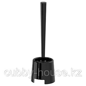 БОЛЬМЕН Щетка для туалета/держатель, черный, фото 2