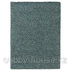 ВИНДУМ Ковер, длинный ворс, сине-зеленый синий, 170x230 см, фото 2