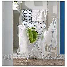 ЭЛЛЬ Мешок для белья на опоре, белый, 70 л, фото 3