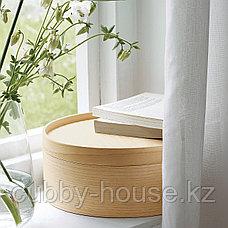 МАЛЛГРОДА Емкость с крышкой, ясеневый шпон, 25x10 см, фото 3