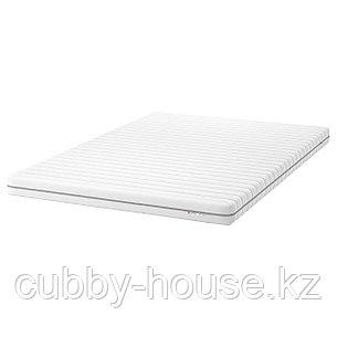 МАЛФОРС Пенополиуретановый матрас, жесткий, белый, 140x200 см, фото 2